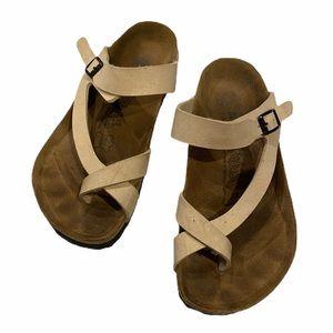 Birkenstock Birkis Thong Cream Sandals